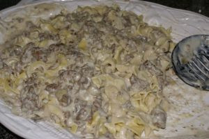 What's on the Menu – Beef Stroganoff